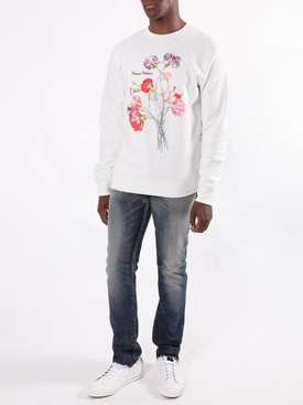 White floral arrangement sweatshirt