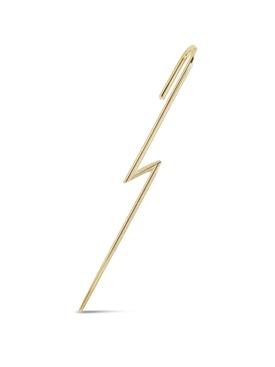 18K YELLOW GOLD FLASH SINGLE EAR PIN