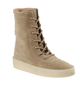 Crepe booties taupe