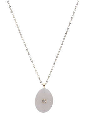 Kiara 18k Gold and Stone Necklace