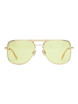 x Ricky Regal Gold Metal Navigator Sunglasses