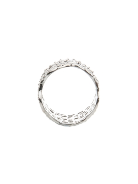 dentelle bague ring silver