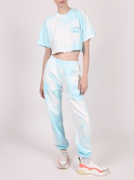 Essential Crop T-Shirt, Sky Tie Dye