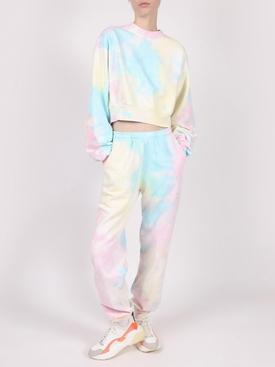 Essential Crewneck Cropped Sweatshirt, Pastel Tie Dye