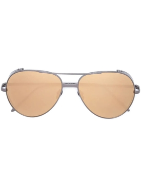 Silver and Gold-Tone Aviator Sunglasses