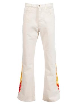 Logan Flame Flareed Jeans Natural