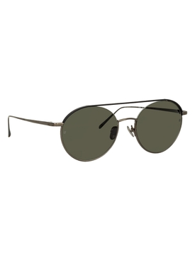 Black and grey Dustin round sunglasses