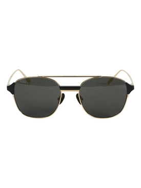 Reed Square Sunglasses, Light Gold & Black