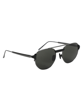 Nico Round Sunglasses, Black
