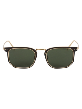 Saul Rectangular sunglaases, yellow gold