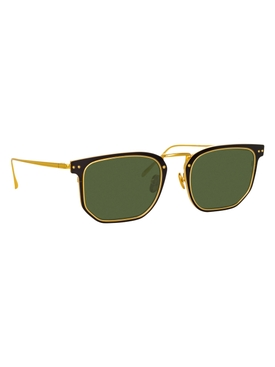 Green Saul rectangular sunglasses