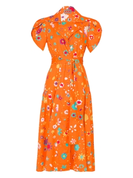THE GLADES DRESS, Orange Floral