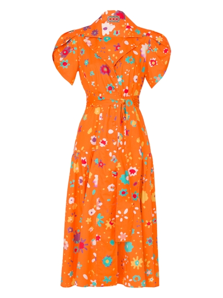 Lhd The Glades Dress, Orange Floral