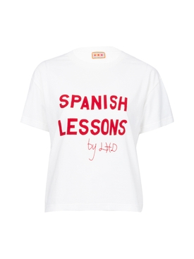 White Spanish Lessons Tee WHITE