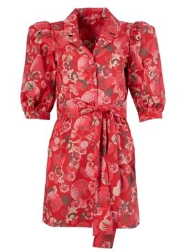 Casitas mini dress RED HYDRANGEA