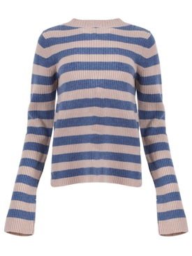 Anglet wool-cashmere Sweater BLUE/GREY