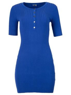 Samphire knit dress Blue