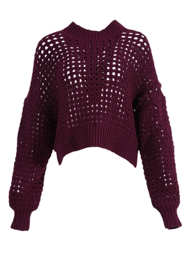PECHEURS KNIT TOP PURPLE