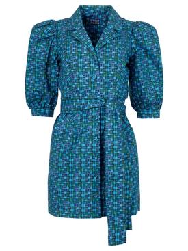 Casitas Dress Metropolitana Blue