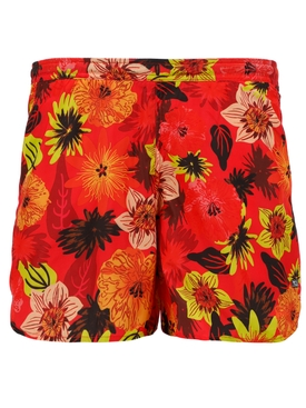 Niteroi Short Tropical Floral Red