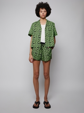 Escadaria Button Up Shirt green sloth