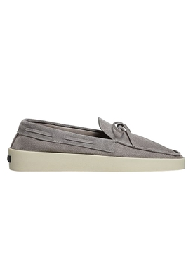 FEAROFGODZEGNA driving loafer stone grey