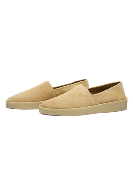 camel suede leather espadrille