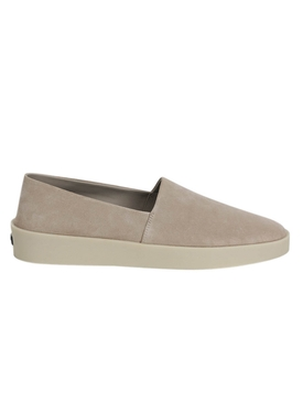 Taupe suede leather espadrille