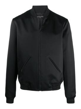 Black logo bomber jacket