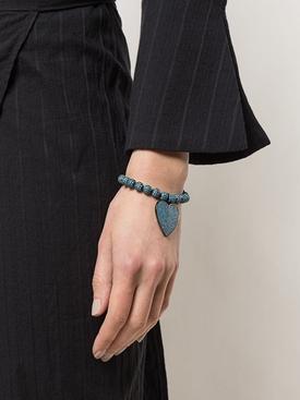 Teal Crystal Pavé Heart Bracelet