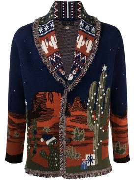 WEST XMAS EVE LANDSCAPE CARDIGAN