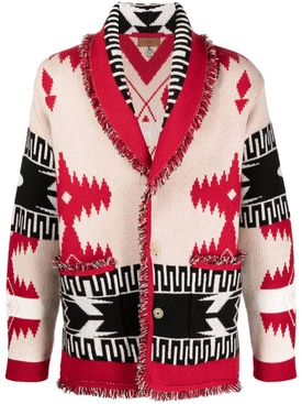 REGENERATED ICON CARDIGAN Red/White