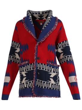 REGENERATED ICON CARDIGAN Red/Multicolor