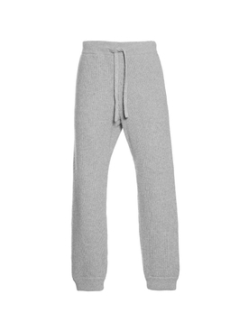 Cashmere-wool jogger pants LIGHT GREY