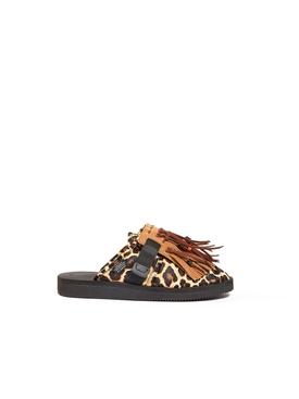 Leopard suicoke loafer