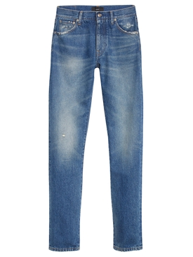Senita wash denim pants, deep blue