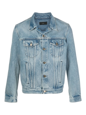 Classic blue embroidered denim jacket