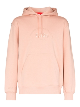 Nude tonal logo hoodie