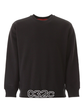 Black contrasting logo sweatshirt