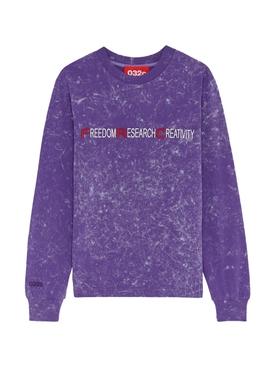 Purple acid wash sweatshirt
