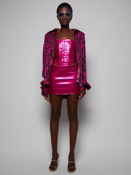 Laquan Smith Mini skirts Hot Pink Low Slung Mini Skirt