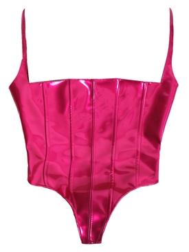 Hot pink corset bustier