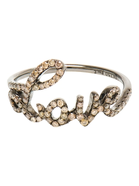 Classic Love Text Ring