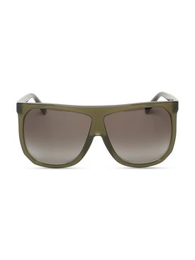 Oversized Filipa Sunglasses Dark Green