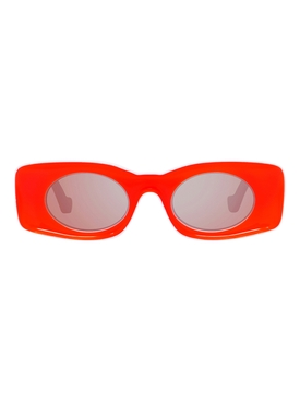 X PAULA'S IBIZA Red rectangular sunglasses
