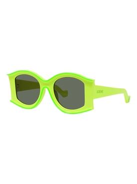 Fluorescent green large sunglasses