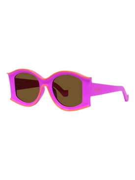 Pink and orange large sunglasses