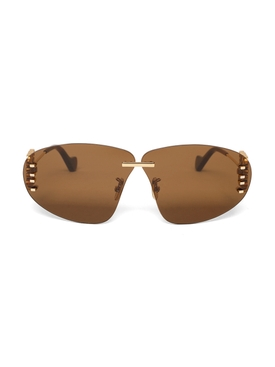 Rimless oval Anagram sunglasses brown