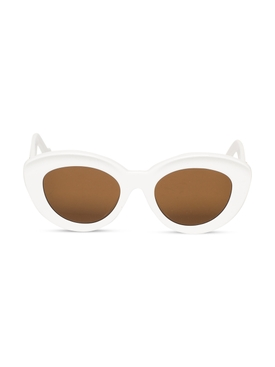 Butterfly Anagram Fitted Sunglasses White