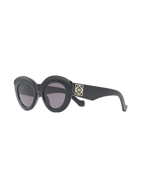 Butterfly Anagram Fitted Sunglasses Shiny Black